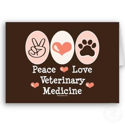 Paz y amor con la Medicina Veterinaria.