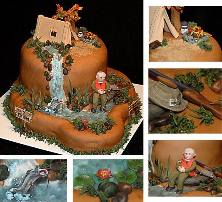 46 best camping cakes images on pinterest for Camping and fishing near me
