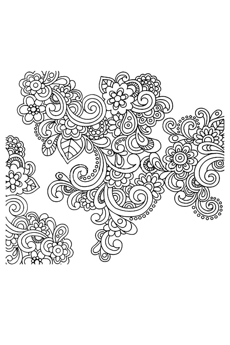 doodle patterns to copy of flowers | Vector Hand Drawn Abstract Henna Paisley Doodles And Flowers