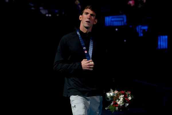 Michael Phelps Photos Photos - Michael Phelps of the United States participates in the medal ceremony for the Men's 200 Meter Butterfly during Day Four of the 2016 U.S. Olympic Team Swimming Trials at CenturyLink Center on June 29, 2016 in Omaha, Nebraska. - 2016 U.S. Olympic Team Swimming Trials - Day 4