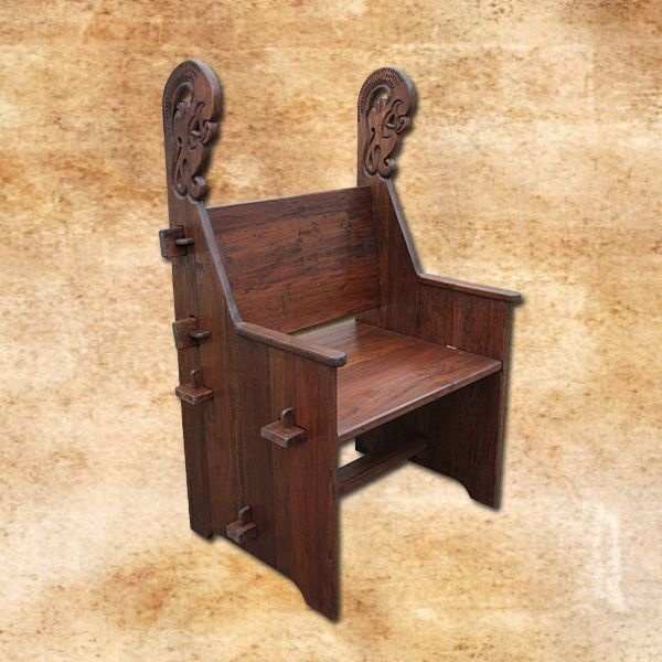 Dragon Throne, take-apart chair, historic hard wood