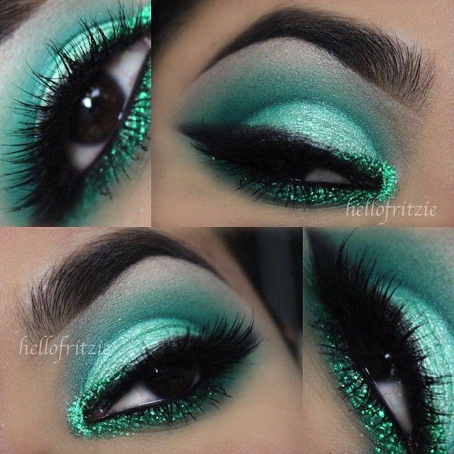 Emerald green eyeshadow @Fritzie Torres