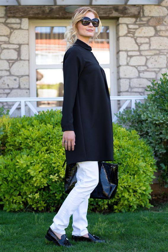 Miss Vaqa Rita Siyah Tunik-42