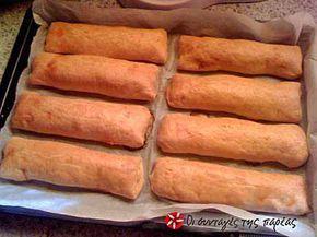 Φλογέρες κουρού με μπέικον και κασέρι #sintagespareas #flogereskourou