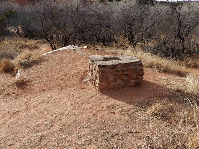 Roof of the Cowboy Dugout which was dug into the side of a dirt/rock hill.  Palo Duro Canyon State Park, Canyon, Texas