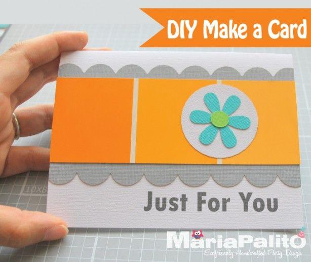 Zelf kaarten maken, leuk en simpel. Met uitleg op de site en nog meer ideen.