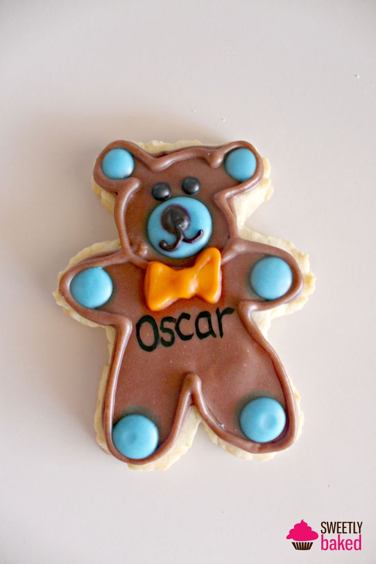Teddy Bear themed cookies