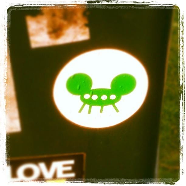 Het Evoluon met Mickey Mouse oren voor op http://urbanstickers.eu #urbansticker #urban #sticker #streetart #street #art #Eindhoven