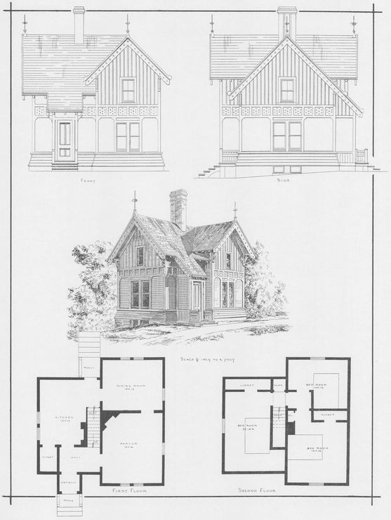 Captivating Victorian Wooden And Brick Houses With Details (Dover Architecture): A. J.  Bicknell U0026 Co