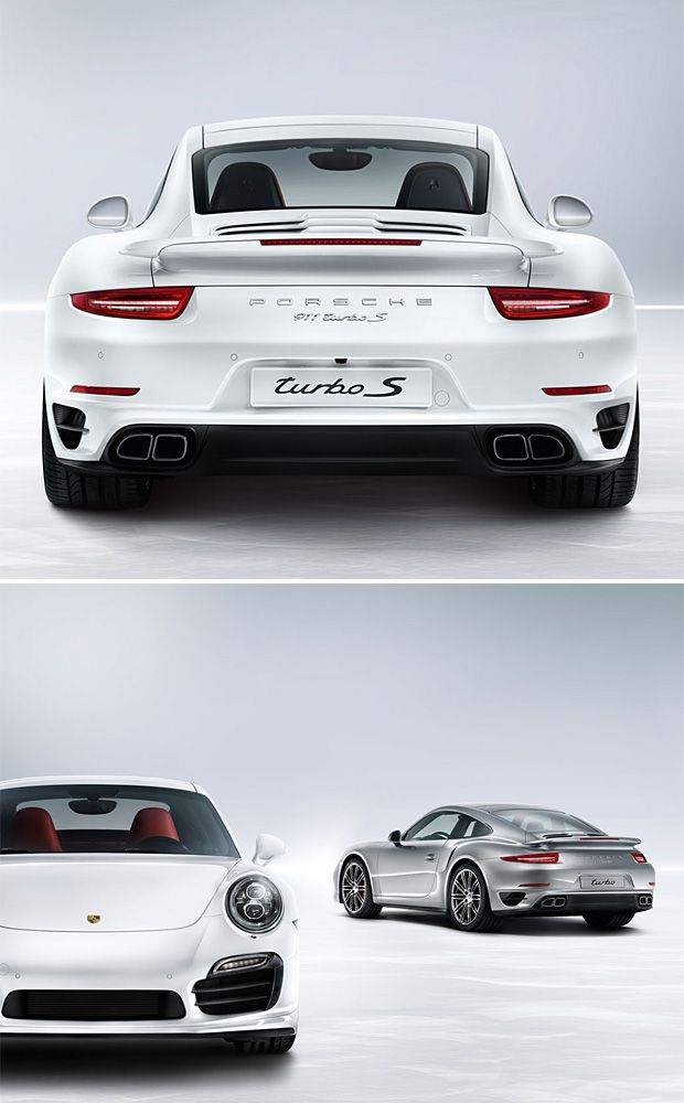 2014 Porsche 911 Turbo and Turbo S  The rear end of the 2014 Porsche 911 Turbo is wider than a pair of Kardashians bending down to touch their toes. And there are plenty of other reasons to perv out on this just-released pair of Porsches. To mark the 40th Anniversary of 911 Turbo, they've fitted the '14 911 Turbo & Turbo S with an all new chassis, a new AWD system, active rear axle steering and they bumped the power in the flat-six motor up to 560 horsepower.