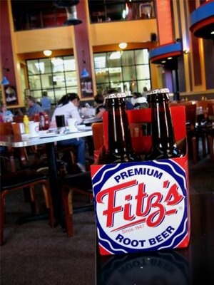 Fitz's Bottling Co mmm good eats and you can watch them bottle rootbeer as  you eat