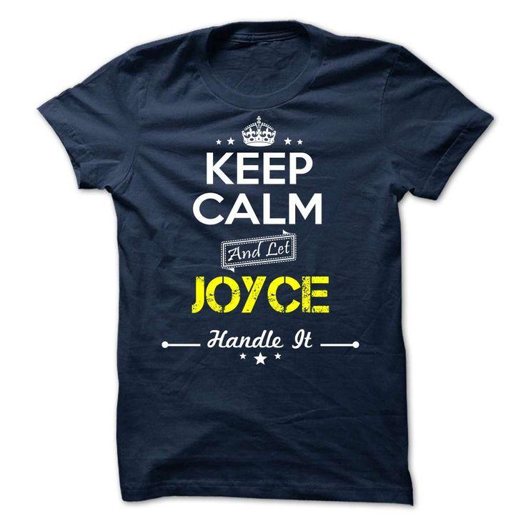 JOYCE -Keep calmJOYCEt shirts, tee shirts