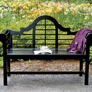 "Elegance, comfort, and durability come together in this beautiful garden bench. Made of sustainably harvested, weather-resistant Eucalyptus, and inspired by the designs of renowned British architect, Sir Edwin Lutyens, it boasts great lines on the bench back and rounded, slatted armrests, for an effect that's inviting and graceful. Easy assembly. Dimensions: 23"" W x 54"" L x 39"" H.The perfect finishing touch for your Lutyens Garden Bench, is the 2-inch-thick, high-density foam cushion."