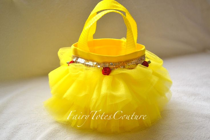 BELLE INSPIRED MINI TUTU TOTE - Party Favor - Mini Purse - Gift Bag