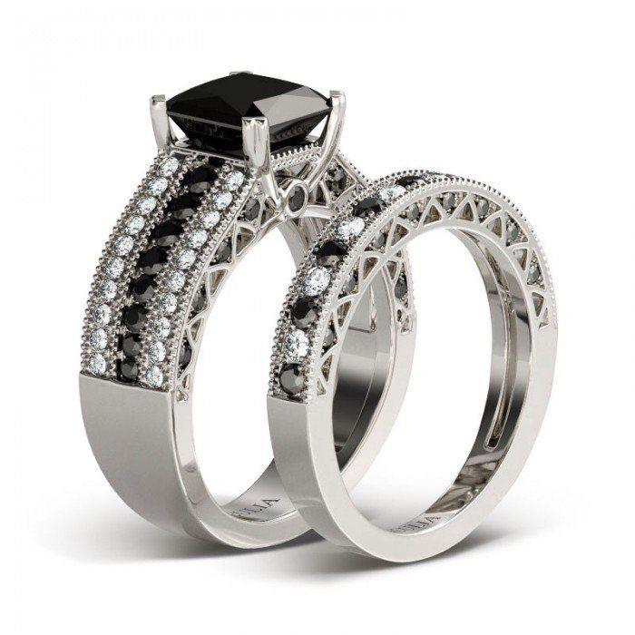 best 25 black diamond wedding sets ideas on pinterest black diamond wedding rings engagement rings black diamond and black and white rings - Black Diamond Wedding Ring
