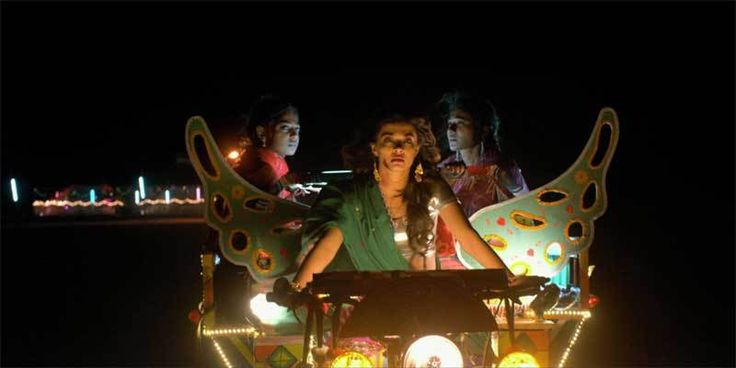 Tannishtha Chatterjee, Radhika Apte, and Surveen Chawla in Parched