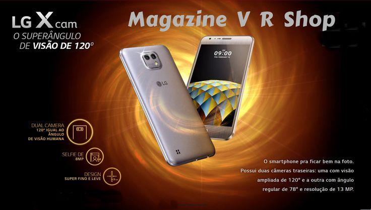 """Tem celular que te obriga a deixar detalhes importantes fora da foto, né? Com o LG Xcam é diferente. São 120° de abertura pra você não perder nenhum detalhe. Smartphone LG Xcam 16GB Dual Chip 4G - Rose Gold - Dourado - Titânio Câmara de 13MP + Selfie 8MP Flash Tela 5,2"""" Octa Core"""