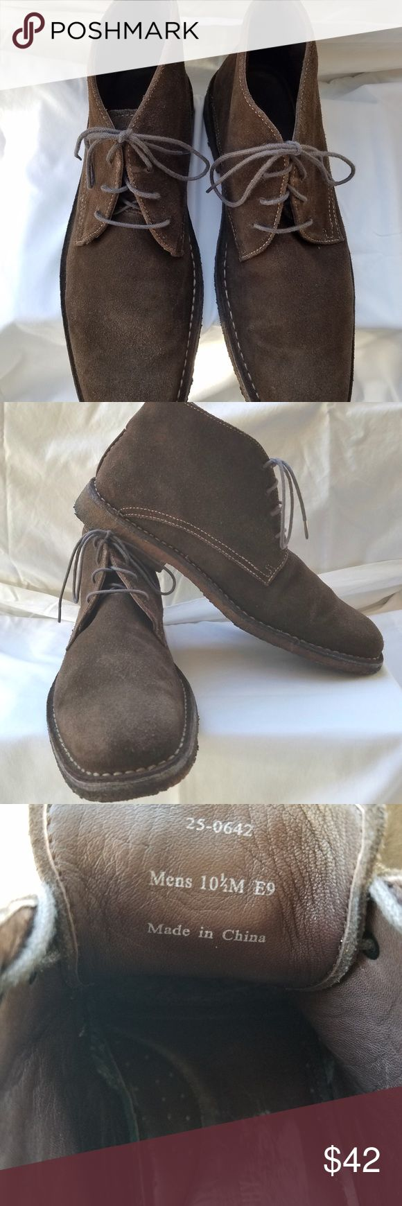 Johnston and Murphy boots, men's size 10.5M Johnston and Murphy brown suede chukka boots size 10.5M with gum shoe soles. Great condition and barely worn. True to size. Johnston & Murphy Shoes Chukka Boots
