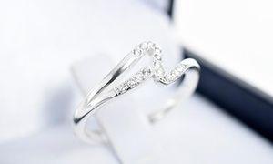Groupon - Anillo de compromiso modelo Sofía en oro blanco con 16 diamantes con Qtregalo. Retiro en tienda. Precio Groupon: $549.000