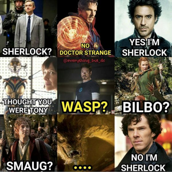 marvel? lotr? sherlock? yes