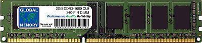 2GB DDR3 1600MHz PC3-12800 240-PIN DIMM MEMORY RAM FOR DESKTOPS/PCs