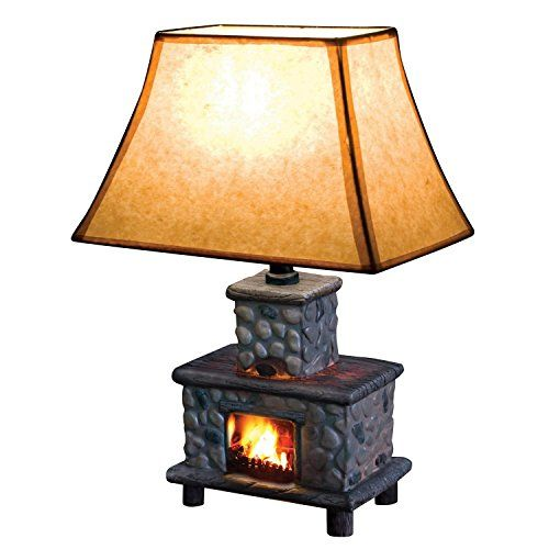 hand painted ceramic fireplace table lamp jsny