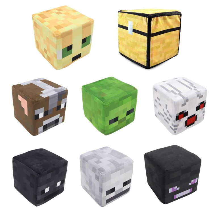 20cm Minecraft Plush Toys (Trapped Chest,Steve,Creeper)Square Stuffed Doll Cartoon Game Toys Pillow Children Chair Gift - free shipping worldwide