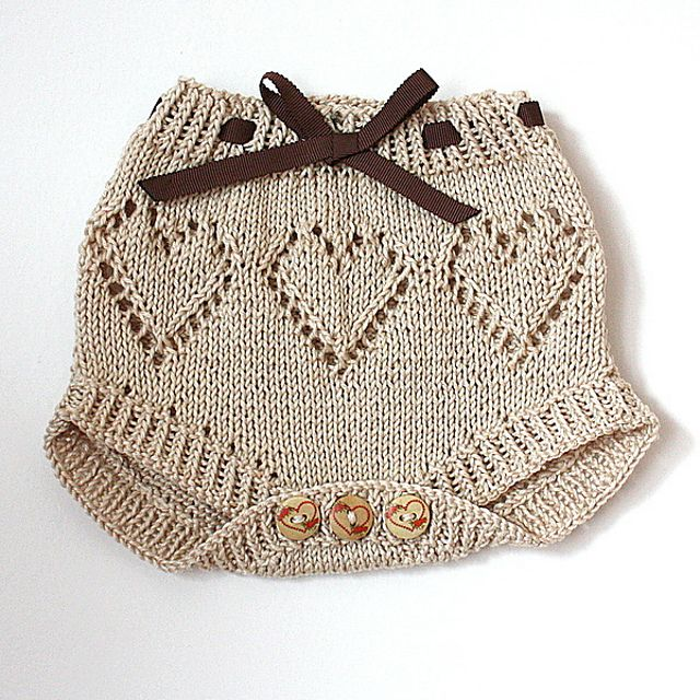 Ravelry: Sweet Hearts Baby Pants Diaper Cover by Julia Noskova