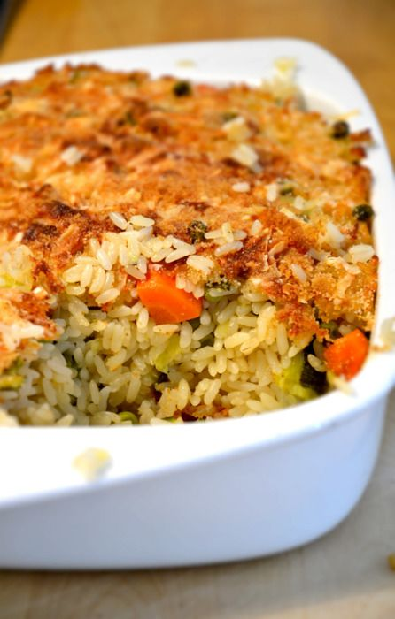 Timballo di riso con verdure RICE PIE WITH VEGETABLES