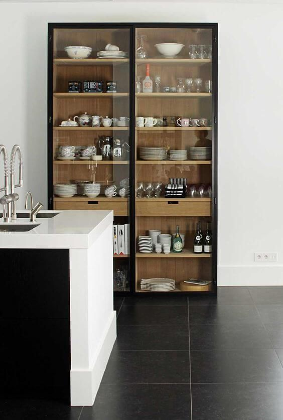 die besten 25 larder schrank ideen auf pinterest k che. Black Bedroom Furniture Sets. Home Design Ideas