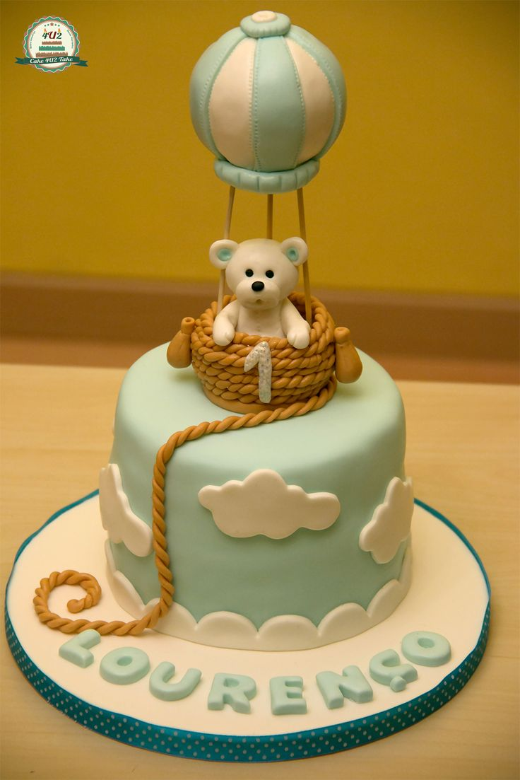 Balloon teddy cake
