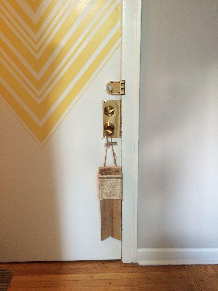door + scratching post.