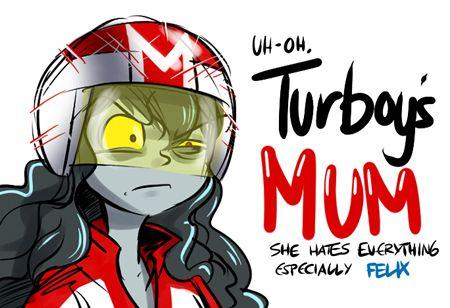 Turbos mom by hpreducedto1 on tumblr