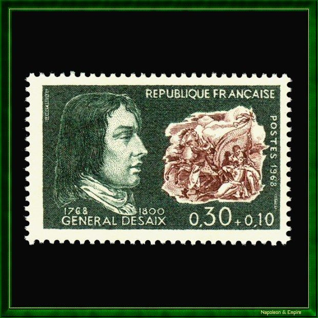 French Stamp of 30+10 cents representing General Desaix