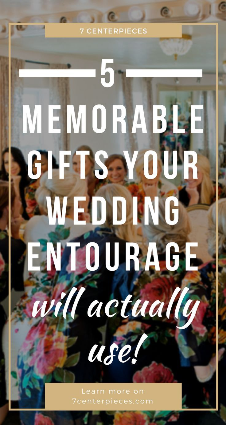 Wedding party gifts can be difficut to figure out. Check out these five memorable wedding party gifts your bridal party will actually use! #weddinggifts #bridalparty #weddingparty