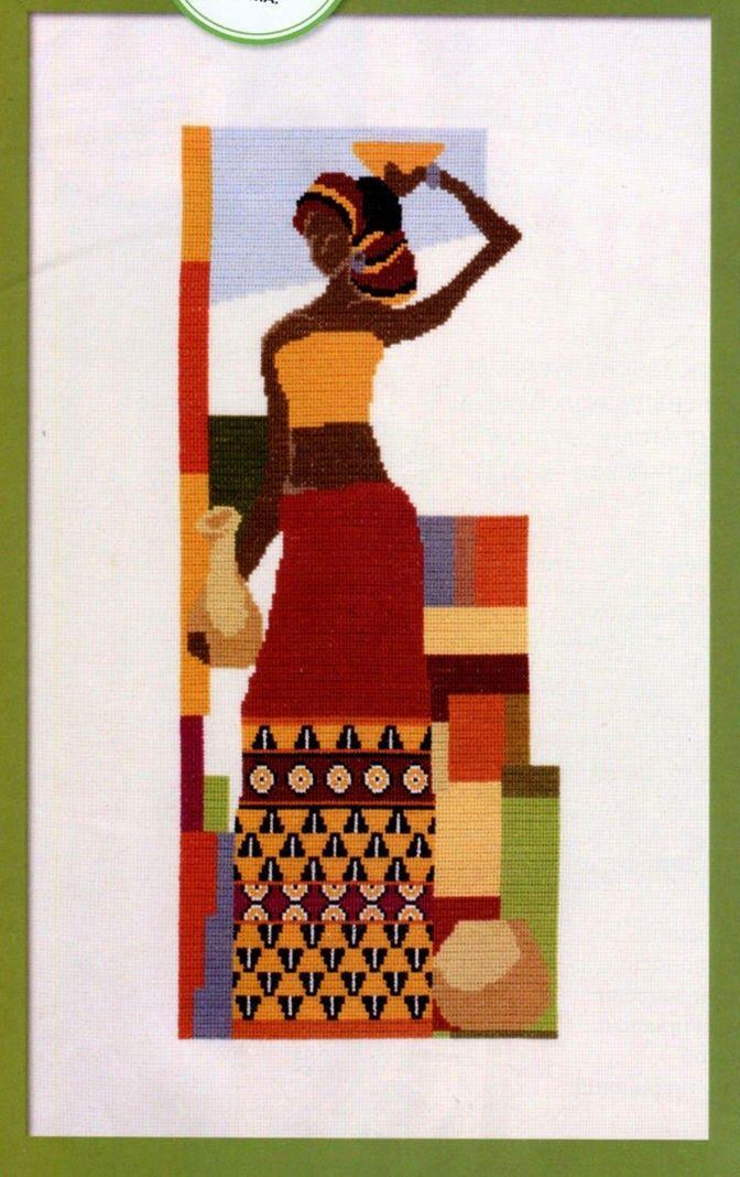 AFRICANA AFRICANA Y JARRON AFRICANA DE ROJO AFRICANAS