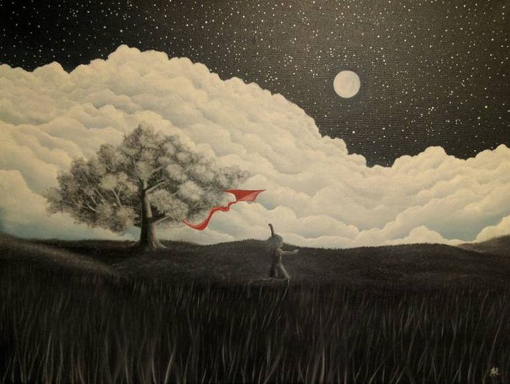 "Saatchi Art Artist Anthony Lusignan; Painting, ""In the clouds"" #art"