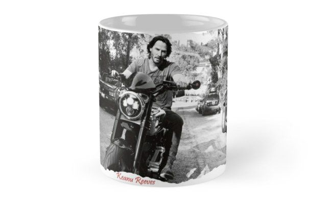Keanu Reeves on Bike – Black and White • Also buy this artwork on home decor, apparel, stickers, and more.