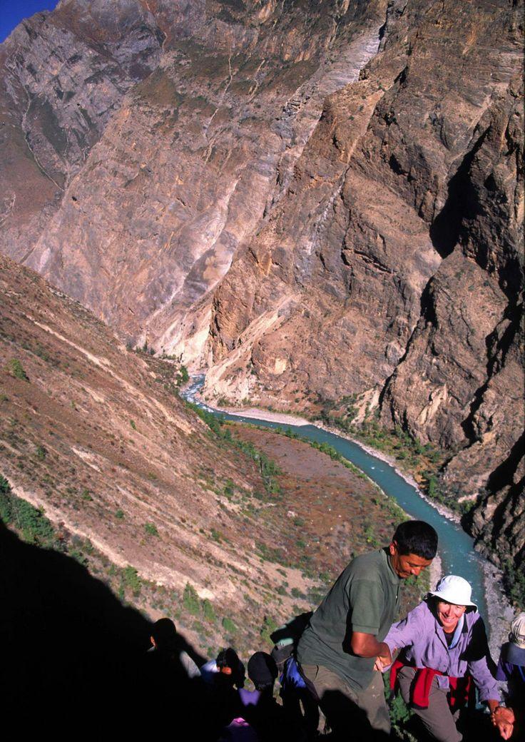 My rock climbing debut in remote Mugu, west Nepal