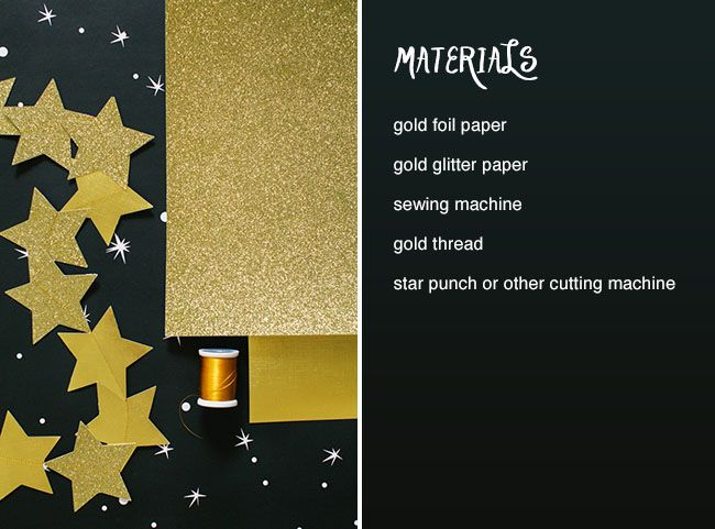 Click here to learn how to make your own glitter star garland!