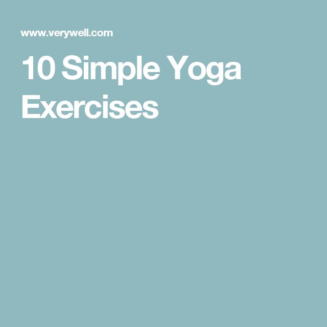 10 Simple Yoga Exercises