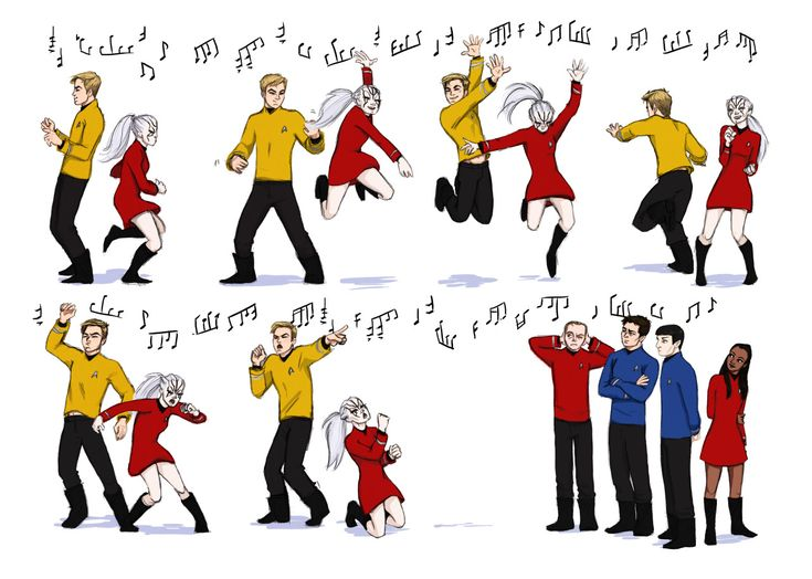 """0tterp0p: """" I just think that they would be really good karaoke friends. also Jim Kirk dances like a nerd pass it on """""""
