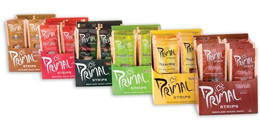 Primal Strips® - Impressively tasty Vegan jerky, with 10 grams of protein per strip.