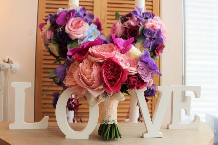 love wedding flowers bride bouquet garden roses