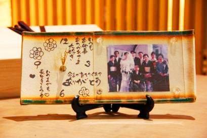 絆の写真立て|結婚式の両親へのプレゼントなら東京の陶芸教室で体験【彩泥窯】