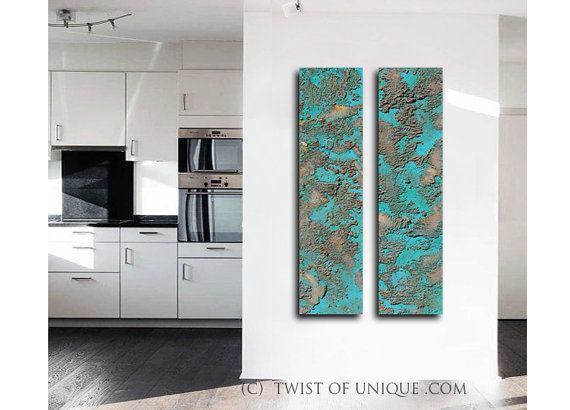 Rusted Metal Painting / Patina metal painting / by TwistOfUnique