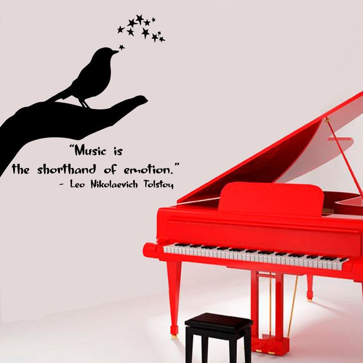 Music quote by Leo Tolsoi Sticker Vinyl Wall Art