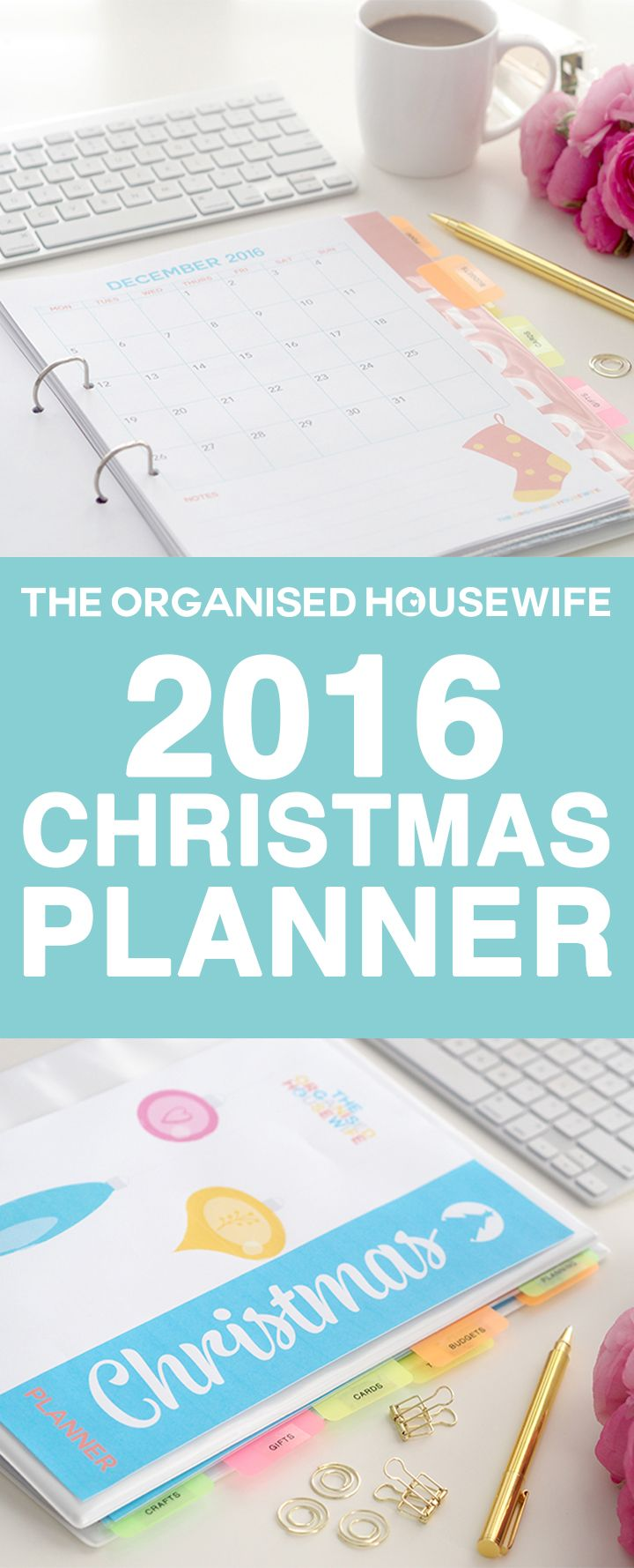 The Organised Housewife 2016 Christmas Planner has a whole new look!  With 70+ pages to keep all your checklists, planners, budget, recipes ideas and more together in one folder. No more losing notes scribbled on the back of envelopes, receipts somewhere on your office desk, this planner will help you cut through the clutter. The Christmas Planner is an instant download so you can start planning and organising everything Christmas today.