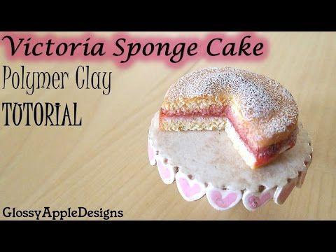 Polymer Clay Victoria Sponge Cake TUTORIAL | Maive Ferrando - YouTube