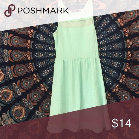 Light green dress Sheer panels, light green dress perfect for weddings Charlotte Russe Dresses